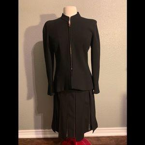 Chanel Zip Up Blazer and Skirt